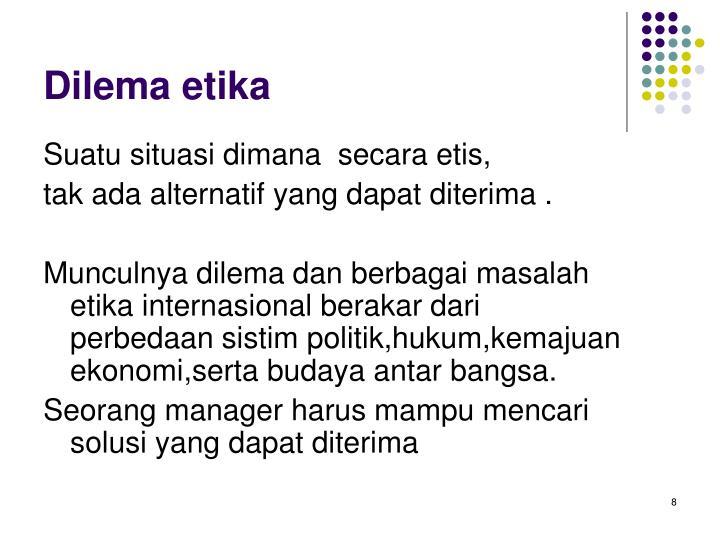 Dilema etika