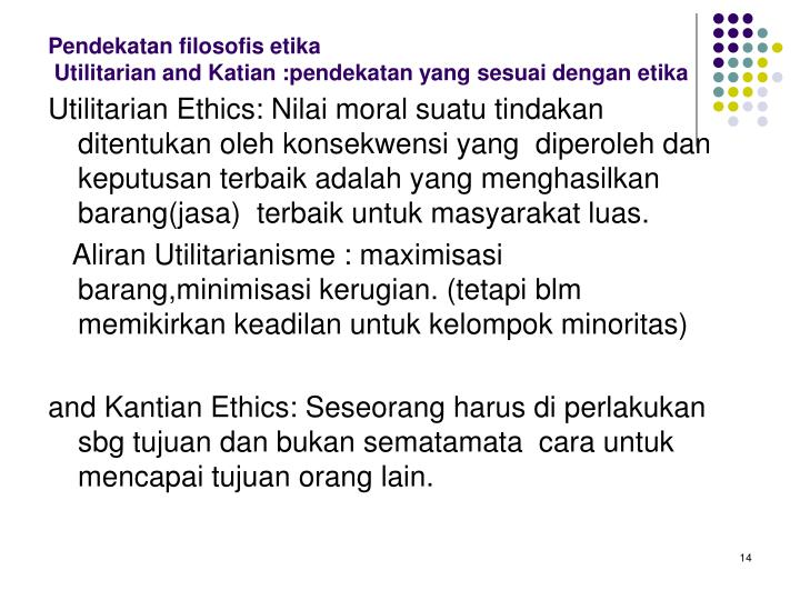 Pendekatan filosofis etika