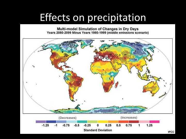 Effects on precipitation
