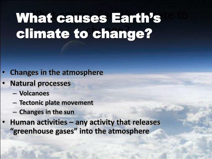 What causes earth s climate to change