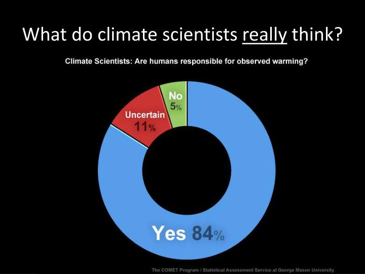 What do climate scientists