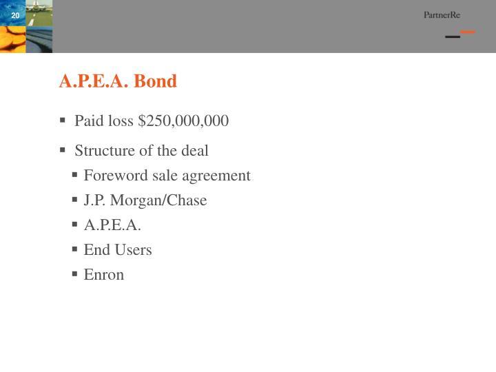 A.P.E.A. Bond