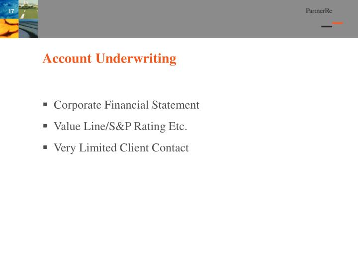 Account Underwriting