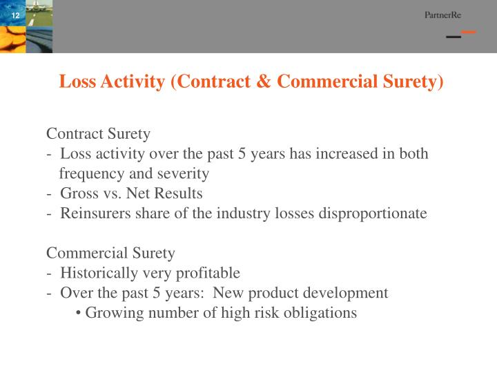 Loss Activity (Contract & Commercial Surety)