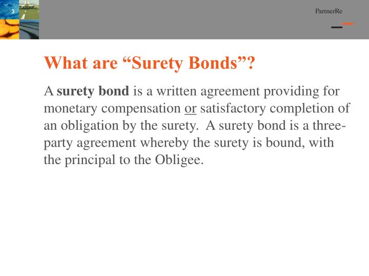 What are surety bonds
