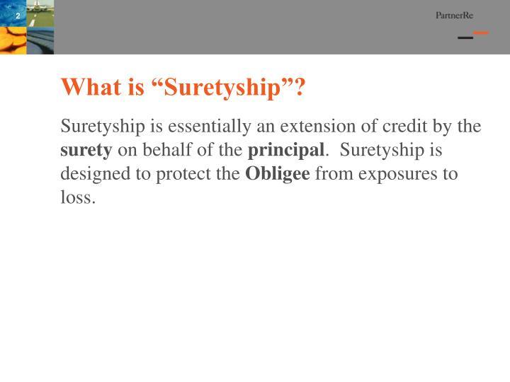 """What is """"Suretyship""""?"""