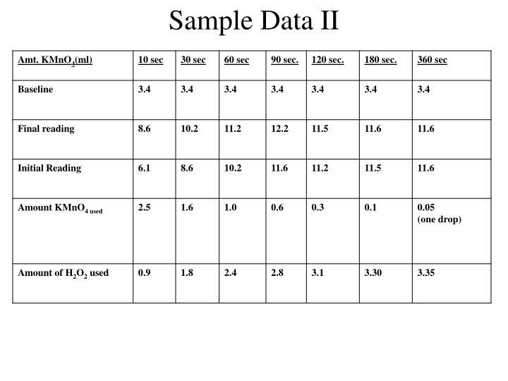 Sample Data II