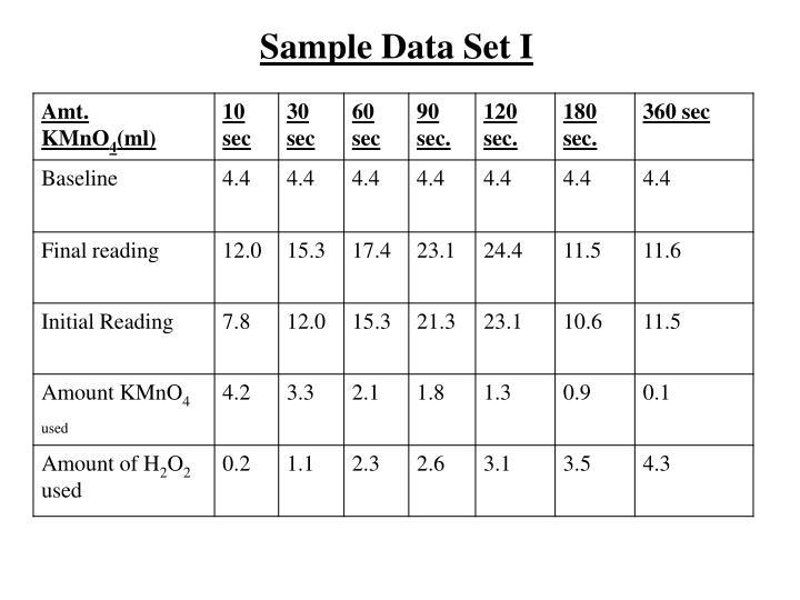 Sample Data Set I