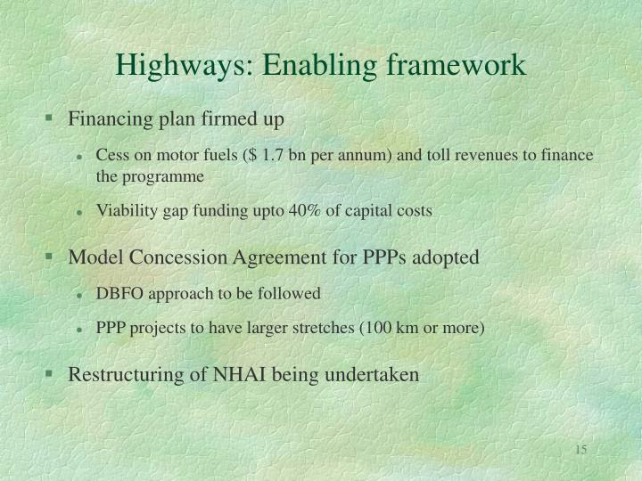 Highways: Enabling framework