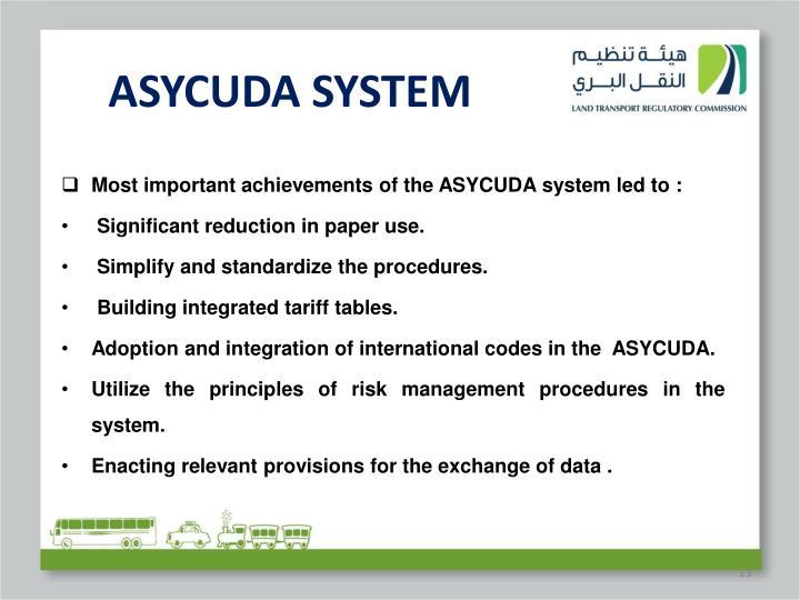 ASYCUDA SYSTEM