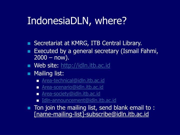 IndonesiaDLN, where?