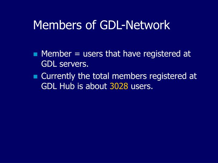Members of GDL-Network