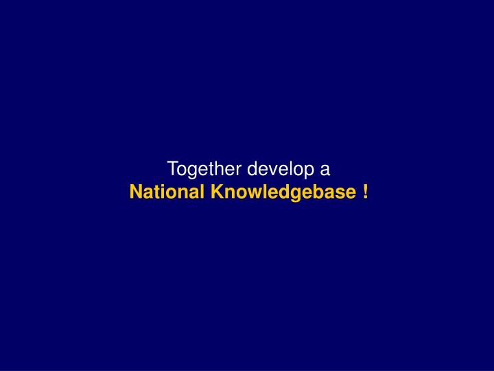 Together develop a