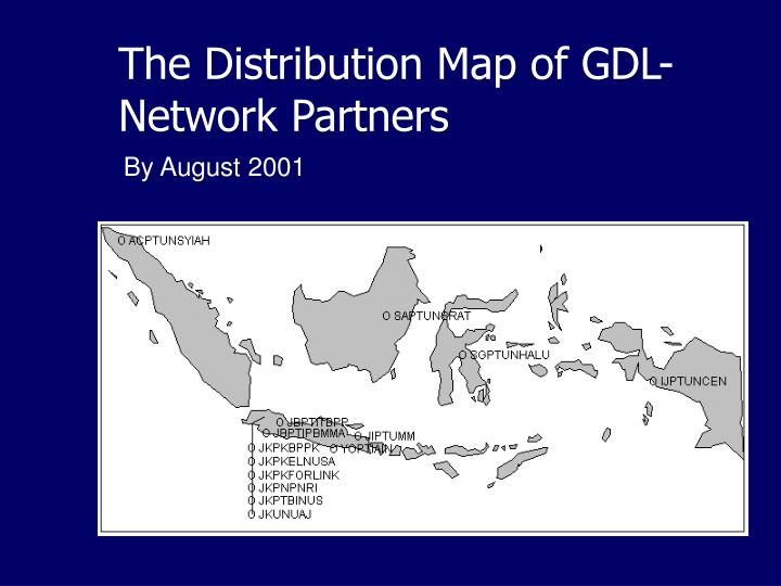 The Distribution Map of GDL-Network Partners