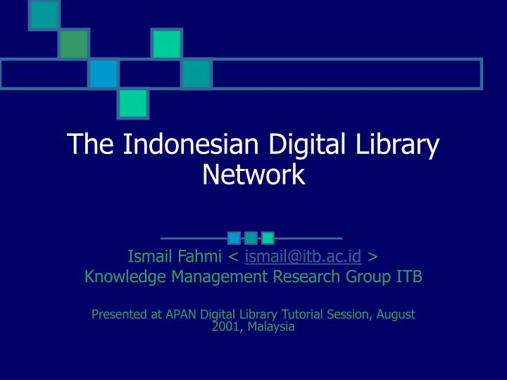 the indonesian digital library network