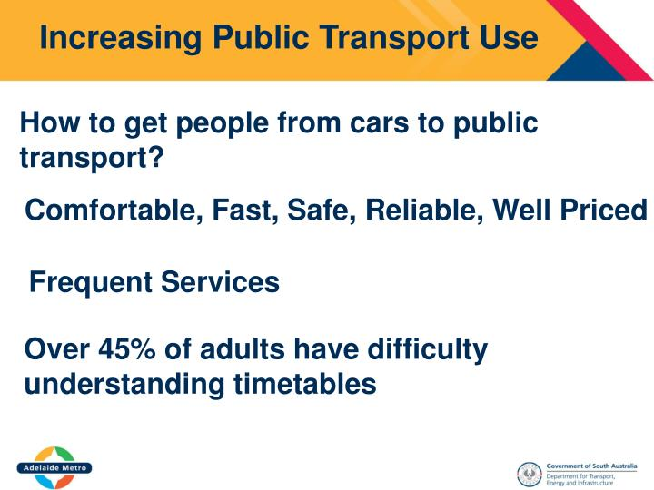 Increasing Public Transport Use