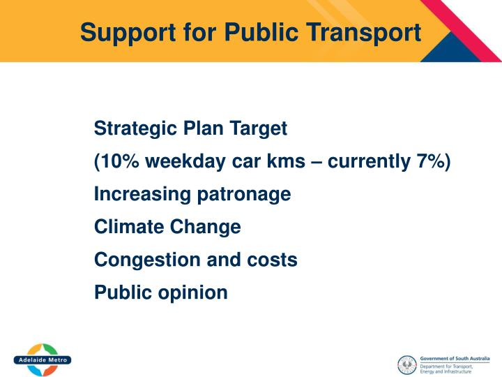 Support for Public Transport