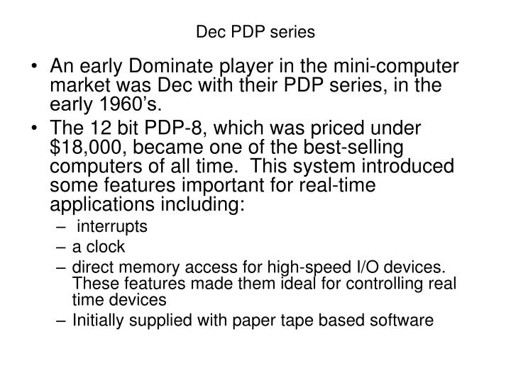 Dec PDP series