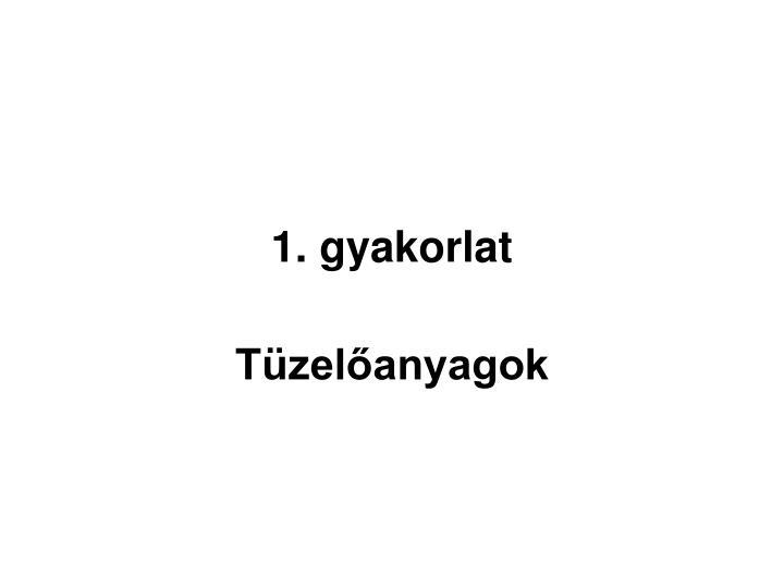 1. gyakorlat