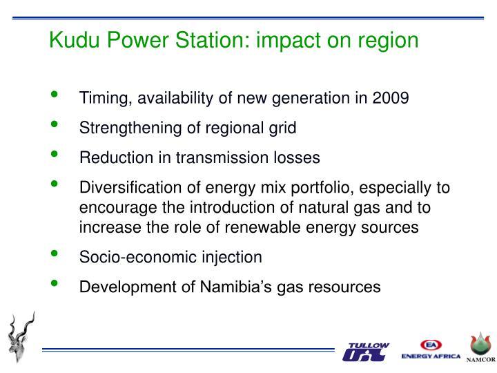 Kudu Power Station: impact on region