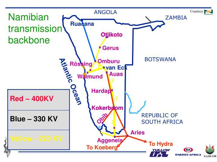 Namibian transmission backbone