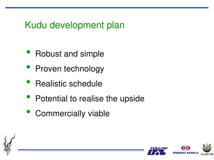 Kudu development plan