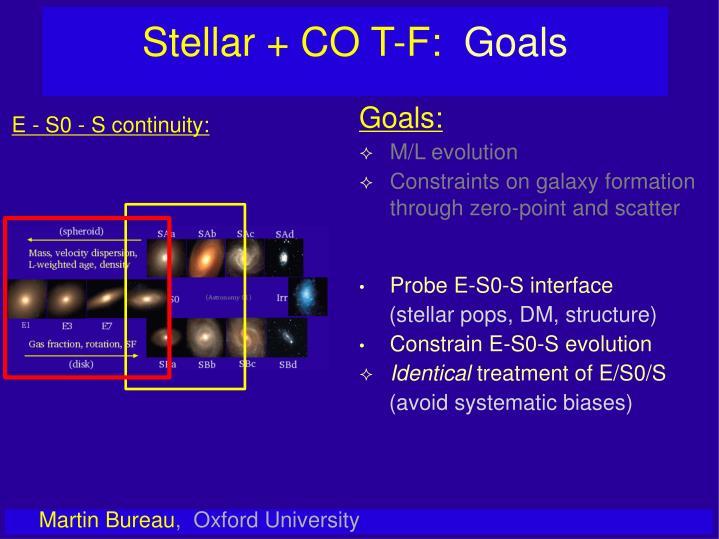 Stellar + CO T-F: