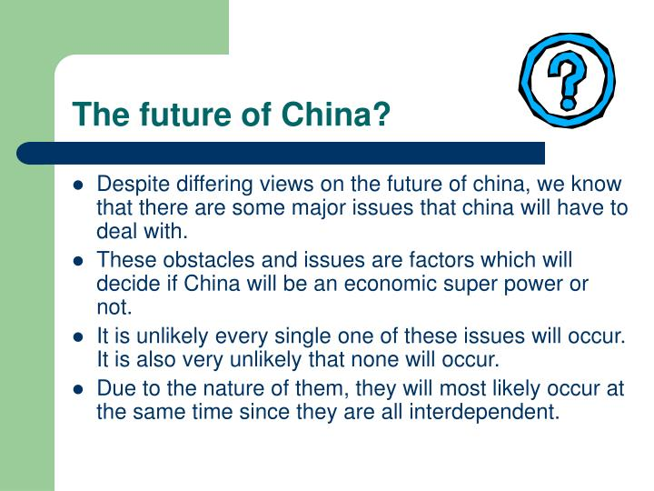 The future of China?