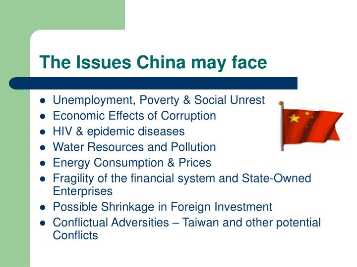 The Issues China may face
