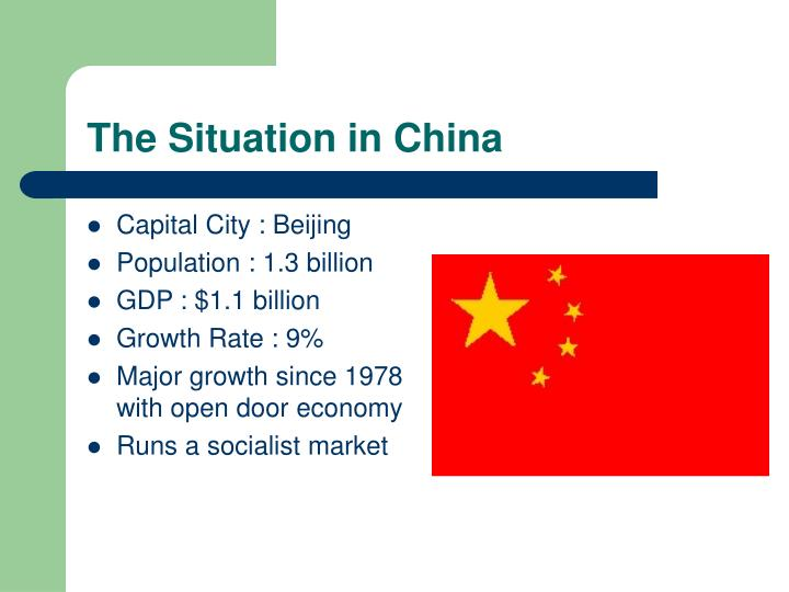 The situation in china