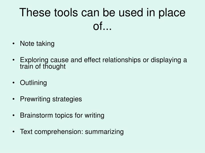 These tools can be used in place of...
