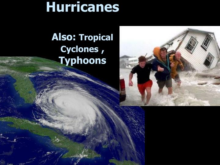 hurricanes also tropical cyclones typhoons