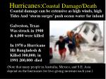 hurricanes coastal damage death