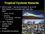 tropical cyclone hazards