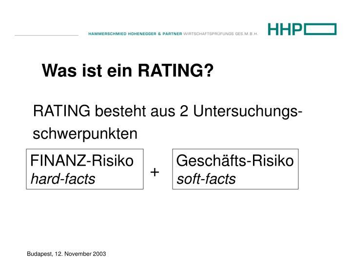 Was ist ein RATING?
