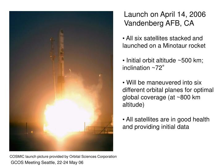 Launch on April 14, 2006