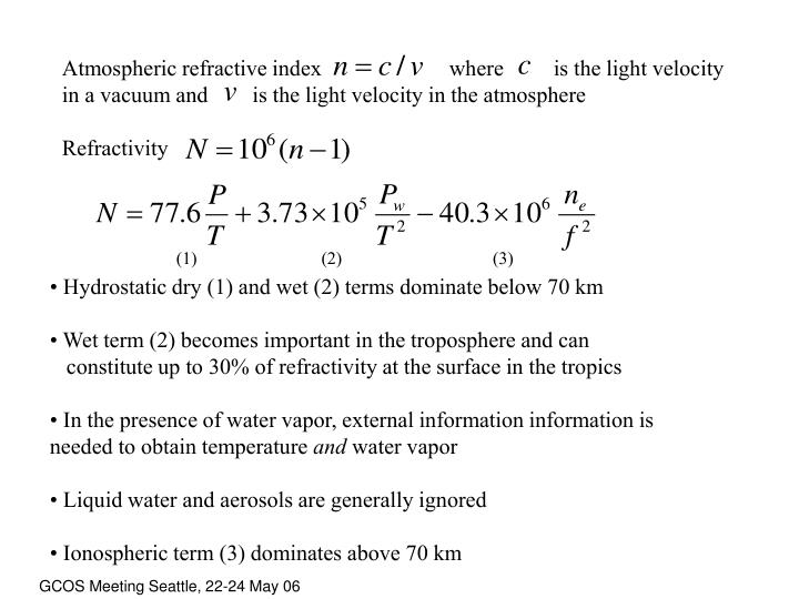 Atmospheric refractive index