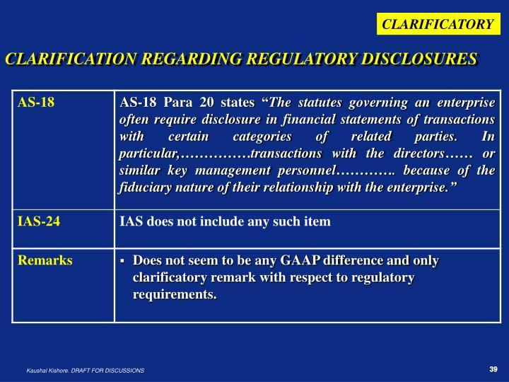 CLARIFICATORY