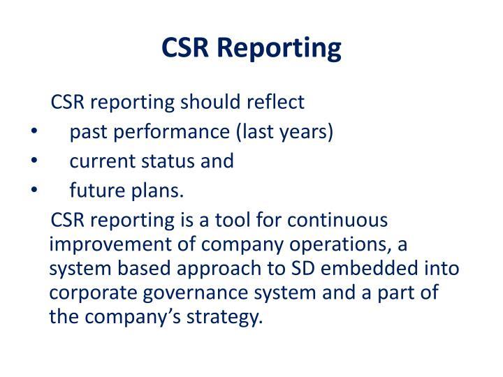 CSR Reporting
