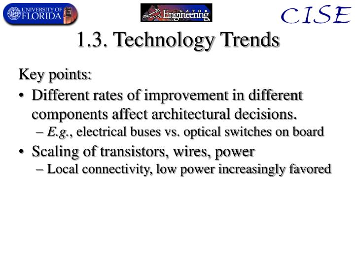 1.3. Technology Trends