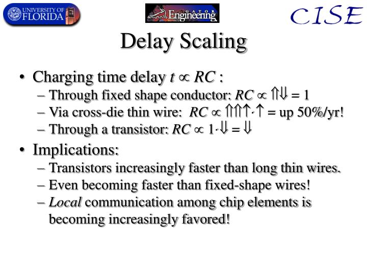Delay Scaling