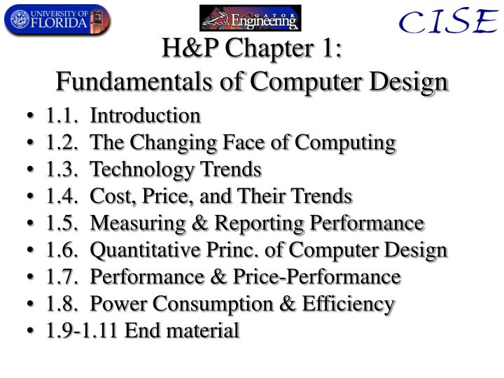 H p chapter 1 fundamentals of computer design