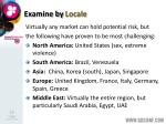 examine by locale