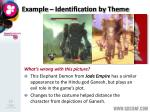 example identification by theme