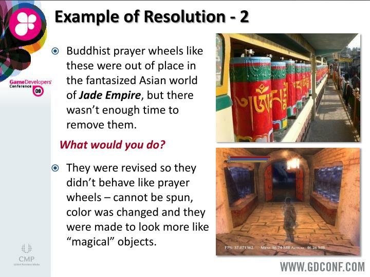 Example of Resolution - 2