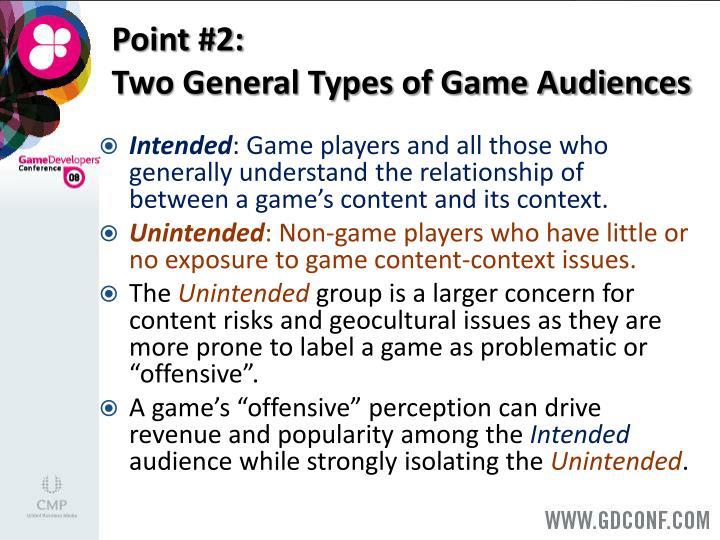 Point #2: