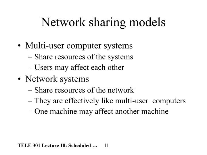 Network sharing models