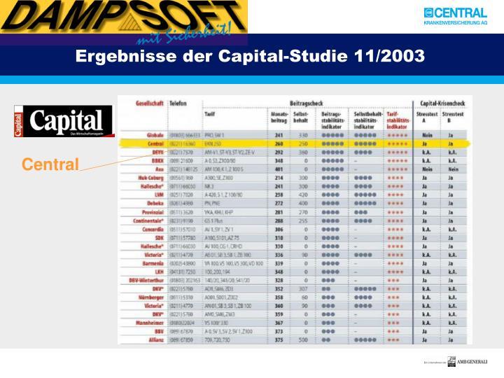 Ergebnisse der Capital-Studie 11/2003