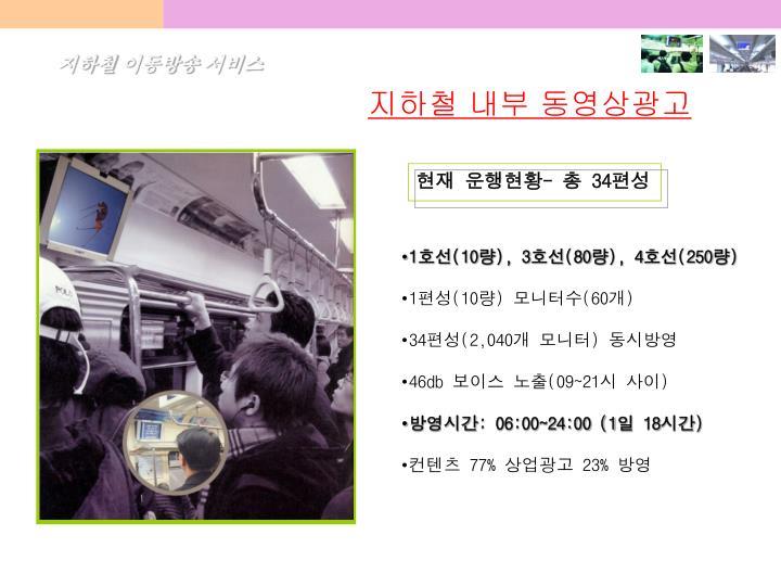 지하철 이동방송 서비스