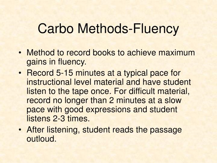 Carbo Methods-Fluency